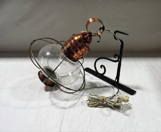 Vintage Onion Copper Hanging Lamp
