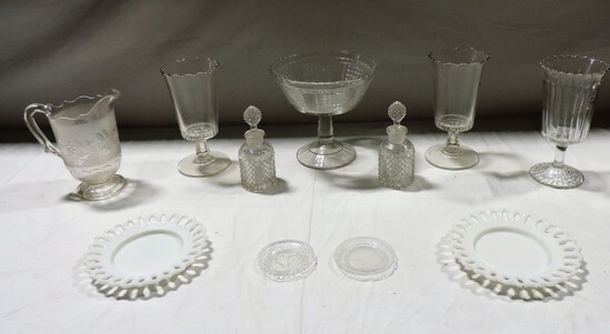 Antique Pressed Glass Lot