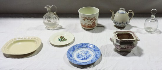 Tray Lot Ceramics & Glassware