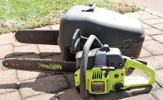 Poulan Chain Saw 2150 Woodman In Hard-shell Case
