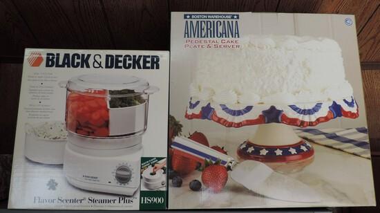Black & Decker Food Processor & Cake Plate
