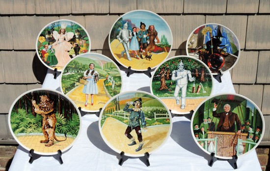 8 Wizard Of Oz Plates By Knowles