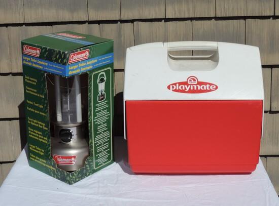 Coleman Electric Lantern & Playmate Cooler