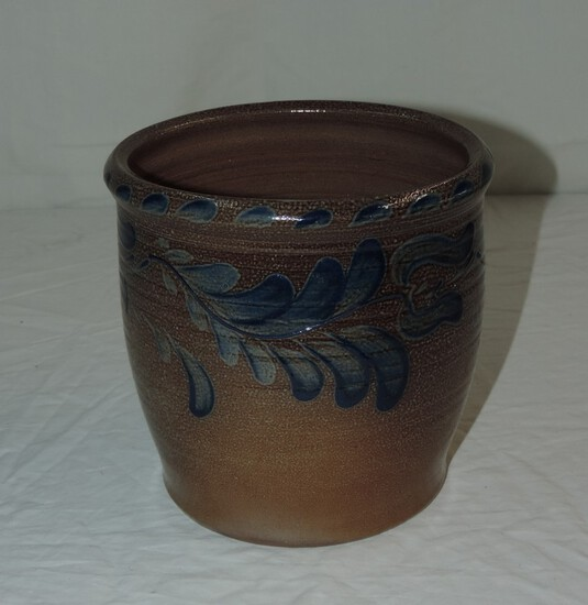 1993 Eldreth Pottery Blue and White Stoneware Jar