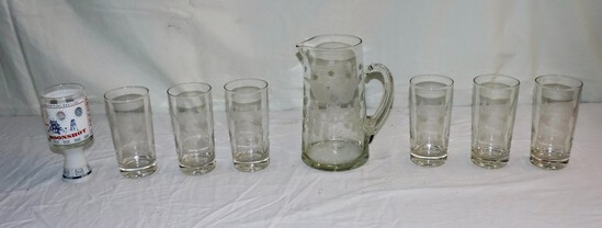 Lot of Vintage Drinking Glasses