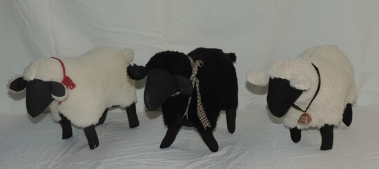 Lot of (3) Stuffed Sheep