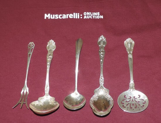 Lot of (5) Pieces of Sterling Silver Serving Pieces Silverware
