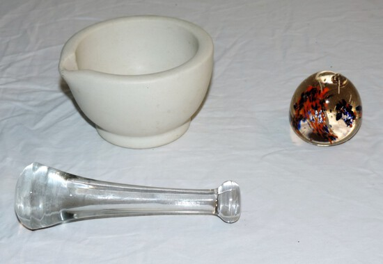 Vintage Mortar and Pestle plus more