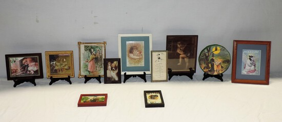 10 Framed Victorian Style Prints