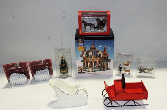 Tray Lot Christmas Collectibles
