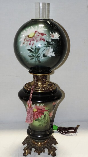 "Victorian ""Gone With The Wind""- Style Electric Lamp"