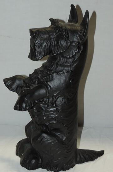 Black Cast Iron Scottie Dog Doorstop