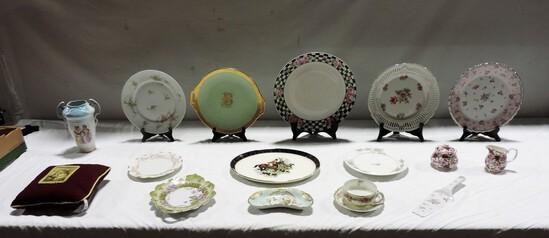 Tray Lot Antique Porcelain