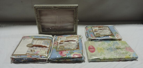 New Floral Valances In Packages, Twin Sheet & Shadowbox Frame
