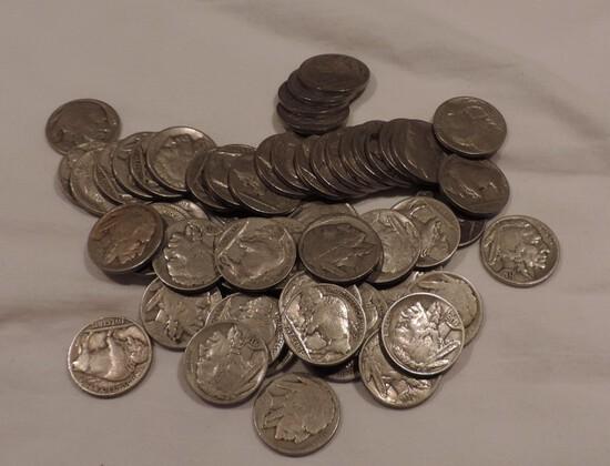 (59) Buffalo Nickels
