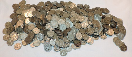 Huge Lot of Unsearched Nickels