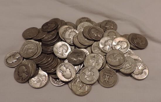 (86) Silver Washington Quarters