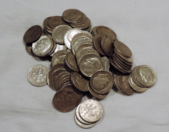 (100) Silver Roosevelt Silver Dimes