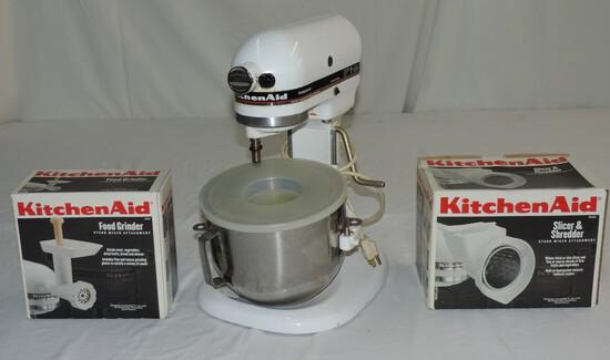 Kitchen Aid Mixer, Food Grinder & Slicer Shredder
