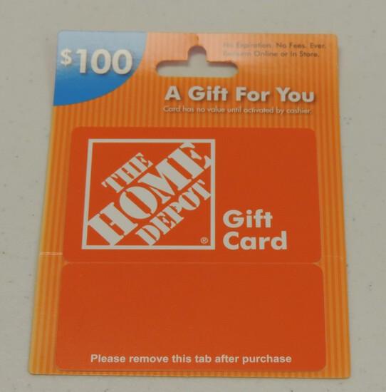 $100.00 Home Depot Gift Card