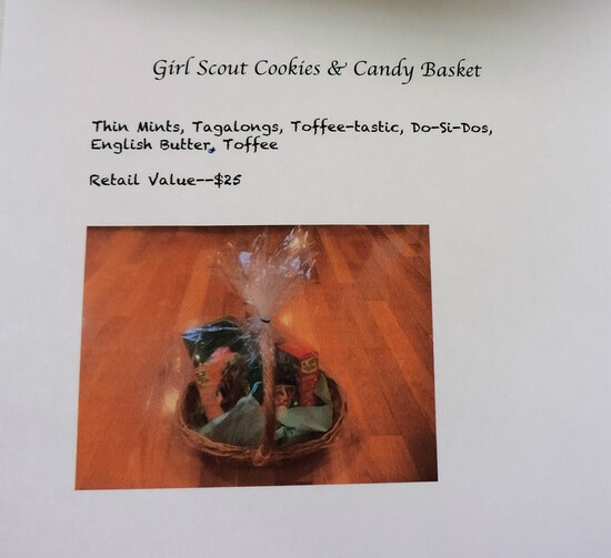 Girl Scout Cookies and Candy Basket