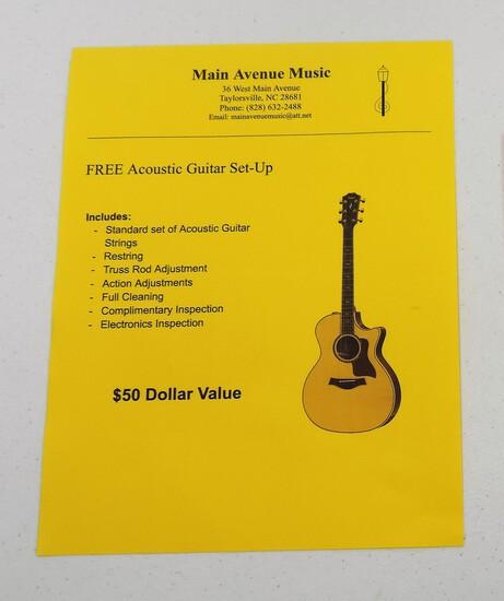 Free Acoustic Guitar Set Up