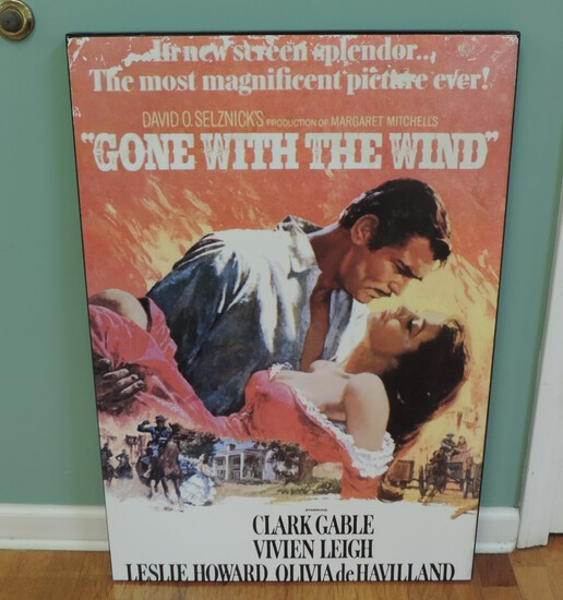 Gone with The Wind Poster on Board