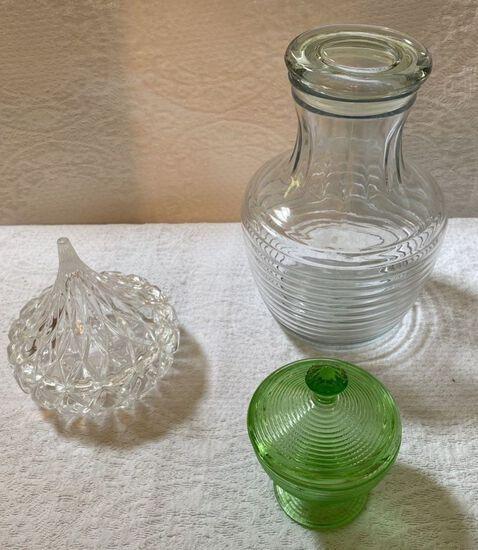 Lot of Vintage Lidded Glassware