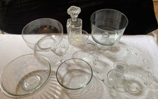 Lot of Vintage and Crystal Glassware