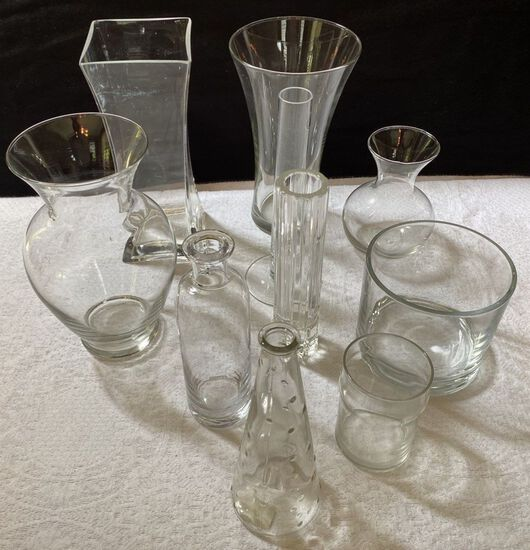 Lot of Crystal Vases