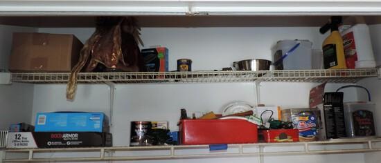 Contents of Washroom Shelves
