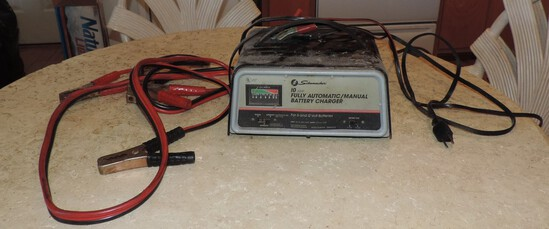 Battery Charger and Jumper Cables
