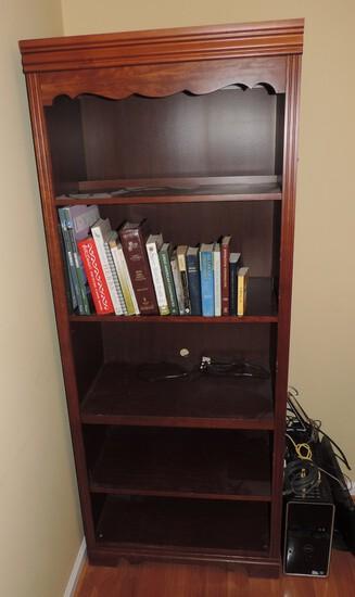 5 Shelf Bookshelf with Books