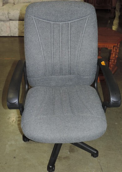 Grey Cloth Covered Office Chair