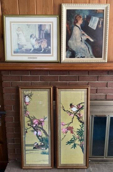 4 Pieces of Framed Art