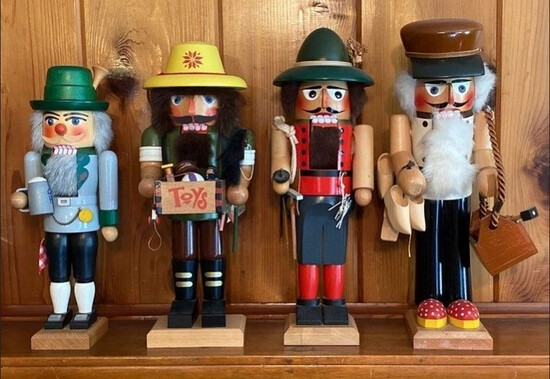 Lot of 4 Different Nutcrackers