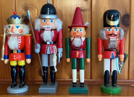 Lot of 4 Assorted Nutcrackers