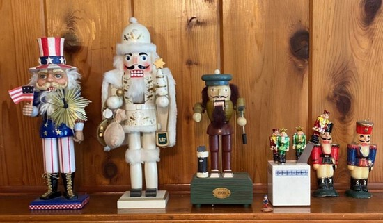 Lot of 6 Assorted Nutcrackers