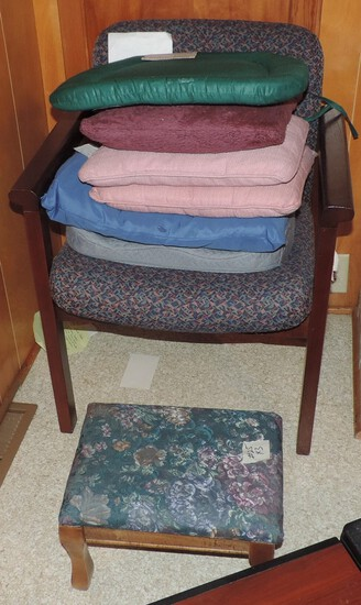 Armed Chair and Footstool