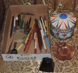 Tin and Local pens and pencils