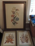 Lot of Floral Wall Art