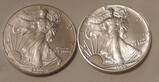 Two American Eagle Silver Dollars