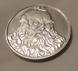 1991 Santa Claus 1 oz. Silver Round