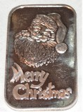 1988 Silver Town Santa Claus 1 oz. Silver Bar