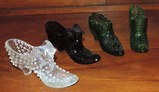 Decorative Glass Shoe Lot