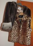 Faux-Fur Jacket and Faux-Fur Vest