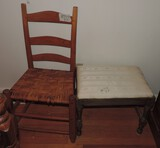 Dressing stool and Pegged Chair