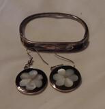 Sterling Bracelet and earrings