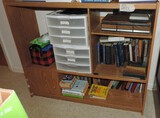 Stereo Cabinet and Contents