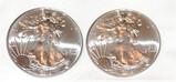 (2) Silver American Eagles